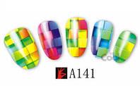 """Наклейка на ногти, наклейка для ногтей, ногтевой дизайн """"квадратики"""" 10 шт набор"""