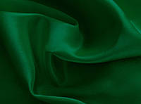 Ткань Креп-сатин Темно - зеленый