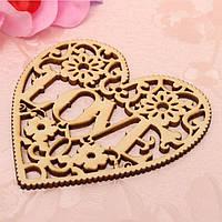 Свадебный декор «Деревянное сердце Love»