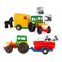 Трактор з прицепом в коробке