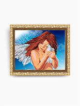 Авторская канва для вышивки бисером «Ангел с голубем»