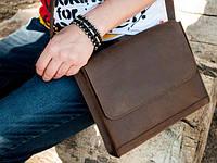 Стильная сдержанная сумка через плечо Field bag brown
