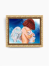Авторская канва для вышивки бисером «Ангел с кроликом»