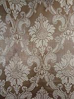 """Штори """"Версаль Коронка"""", коричневий, фото 1"""
