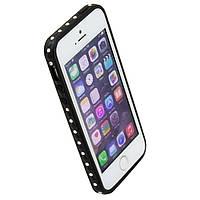 Чехол бампер для iPhone 5S Senior Case со стразами черный