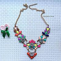 """Ожерелье """"Инга"""", разноцветное."""
