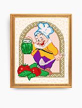 Авторская канва для вышивки бисером «Готовим соления»