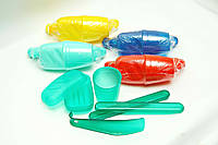 Набор дорожный: Мыльница, стакан, футляр для зубной щётки и обувная ложка.
