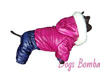 Комбинезон зимний с мехом для собак А-11