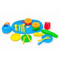 Поднос с набором посуды (28) Орион