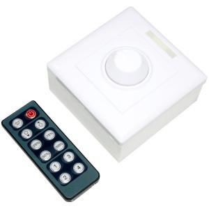 Диммер для светодиодной ленты 192Вт 16A-ифракрасный пульт + встраиваемый