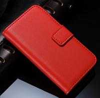 Кожаный чехол-книжка для iPhone 5 5S красный