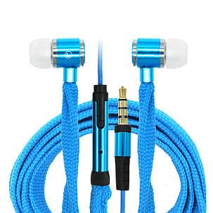 Наушники шнурки Handfree (Синие), фото 2