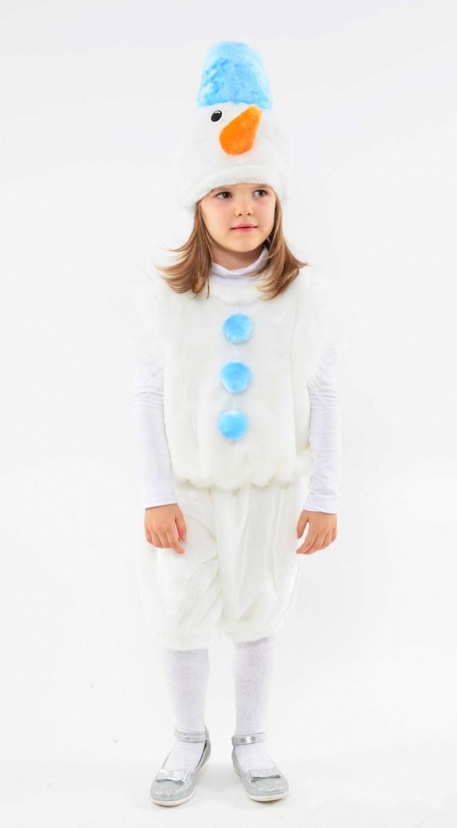 Детский карнавальный костюм Снеговика 2-5лет