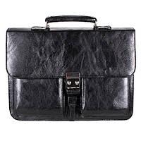 Классический мужской портфель из искусственной кожи черный