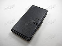 Кожаный чехол книжка Lenovo A6010 / A6000 / K3 (черный)