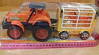 Машина Трактор с прицепом и животными