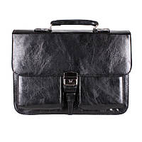 Классический мужской портфель из искусственной кожи черный TR-2974-2