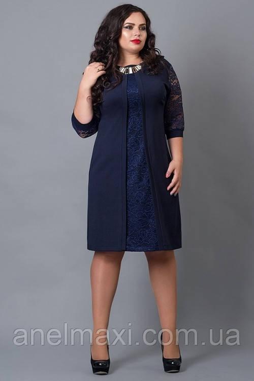 903165d13c9 Нарядное платье с кружевом бордового (марсала) цвета 564 большого ...