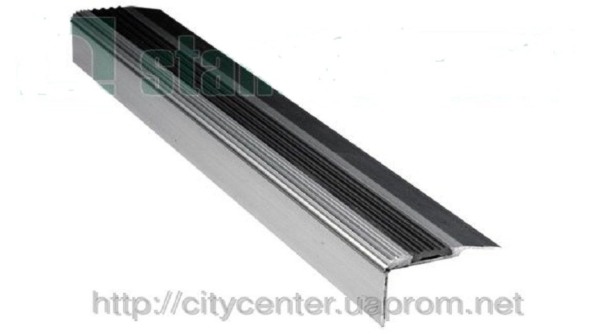 Накладка на ступеньки алюминиево-резиновая одинарная