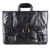 Деловой мужской портфель из искусственной кожи черный