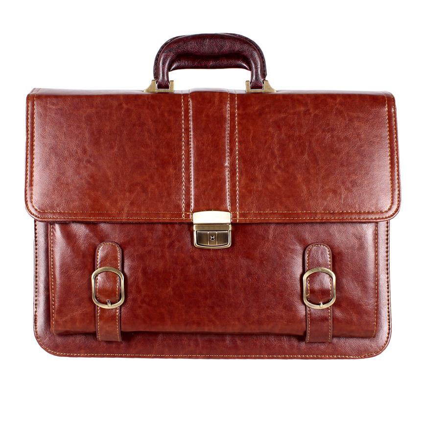 452c98d3f798 Деловой мужской портфель из искусственной кожи коричневый купить в ...