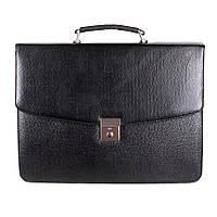 Мужская сумка-портфель из искусственной кожи черная