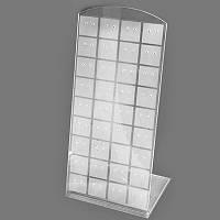Подставка для Сережек, Оргстекло, Белый+Бесцветный, Размер: Высота 19.5см, Ширина 9см, Толщина 5.5см, (УТ100005730)