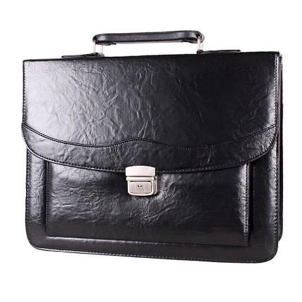 1a9007400d46 Классическая мужская сумка-портфель из искусственной кожи черный, фото 2