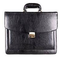Классическая мужская сумка-портфель из искусственной кожи черный