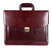 Классическая мужская сумка-портфель из искусственной кожи коричневый
