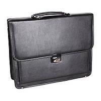 Классический мужской портфель из искусственной кожи черный TR-3934