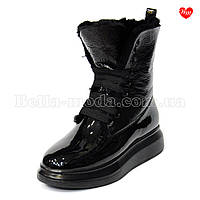 Женские лаковые ботинки Alexander McQueen
