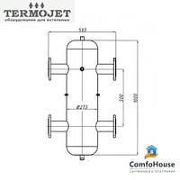 Гидрострелка Termojet СК-31 без изоляции