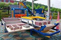 Производство тротуарной плитки методом вибропрессования станок