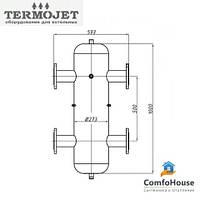 Гидрострелка Termojet СК-32 без изоляции