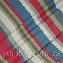 Декоративная ткань Чарли, цвет малина, синий, оливковый