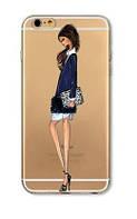 Прозрачный силиконовый Чехол для Iphone 5/5S/SE - (Девочки)