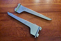 Полкодержатель на рейку хром 30 см, двойной., фото 1