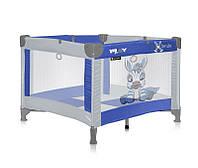 Детская кровать-манеж PLAY (сумка-чехол, матрас, кольца) Размер: 90 х 100 см, высота 75 см ТМ Lorelli (Bertoni)