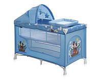 Кровать-манеж NANNY 2 LAYER PLUS для детей (2 уровня, пеленатор, козырек с игрушками,124х64х72 см) ТМ Lorelli (Bertoni)