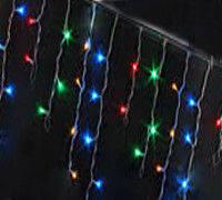 "Гирлянда-штора ""бахрома"", цветная, 2,5х0,8 м, 120 диодов / LED"