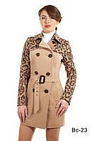 Модное женское пальто средней длины Вс-23 демисезонное