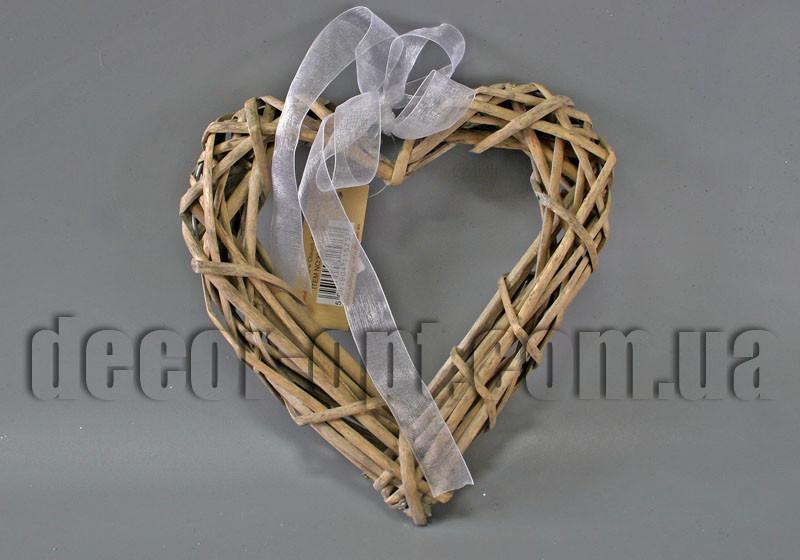 Сердце натуральное из ротанга 20см XY8028LG