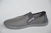 Туфли мокасины босоножки летние прочная сетка мужские серые легкие Львов. Со скидкой 40