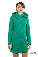 Женское пальто модное средней длины Вс-25 демисезонное