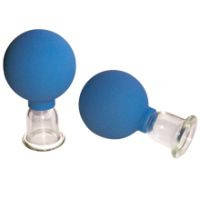 Банки сухие вакуумные полимерно-стеклянные №2 в инд. упаковке диаметром 33 мм для шейного массажа
