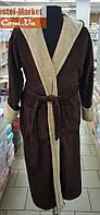 Мужской халат Zeron коричневый  (2XL (52))