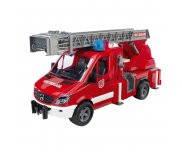 Игрушка пожарная машина с лестницей водяная помпа свет и звук М1:16 МВ Sprinter BRUDER 02532