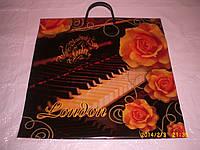 Пакет сумка с пластиковой ручкой 39*39